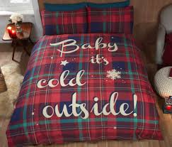 Christmas Duvet Covers Uk Baby It U0027s Cold Outside Red Christmas Duvet Cover Kool Rooms For