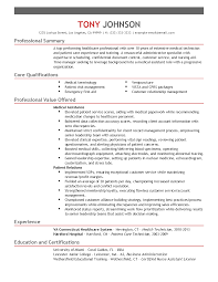 resume examples professional summary professional health technician templates to showcase your talent 1235 joshua street los angeles ca 99999 h 333 333 3333 example email email com professional summary