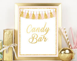 candy bar sign etsy