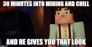 Meme Minecraft - minecraft story mode meme and fun thread mobile warning