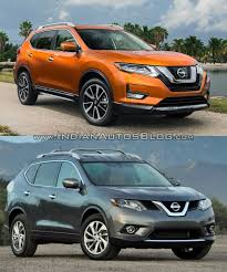 nissan kicks 2017 blue 2017 nissan rogue vs 2014 nissan rogue in images