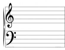 sheet music clipart grand staff pdf pencil and in color sheet