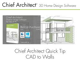 Chief Architect Home Design Software For Mac Chief Architect Quick Tip Cad To Walls Youtube