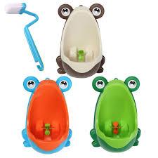 lovely frog children potty toilet training brush cleaning kids