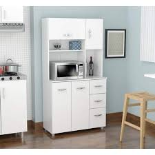 Laricina White Kitchen Storage Cabinet Free Shipping Today - Kitchen cabinets overstock