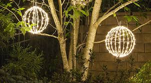 Light Up Topiary Balls - light balls yard envy