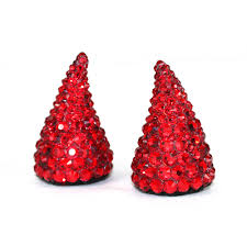 Halloween Clip On Earrings by Red Devil Horns Devil Horn Headband Swarovski Crystal Hair