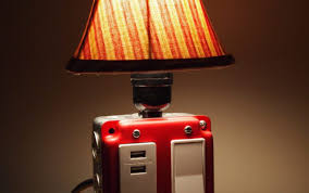 Night Table Lamps Table Lamp And Usb Charger Combo With Diy Skull Lampshade Table