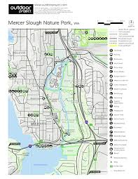 mercer map mercer slough nature park outdoor project