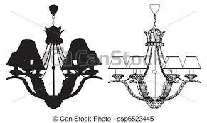 Free Chandelier Clip Art Clipart Vector Of Luster Chandelier Vector Csp6523445 Search