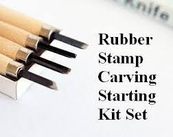 Wood Carving Tools Beginners Set by Rubber Stamp Carving Tool 6 Wood Carving Knife For Handmade