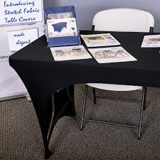 6 Foot Fitted Tablecloth Amazon Com Iceberg Ice16511 Stretch Fabric Table Cloth Cover 4