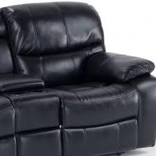 Black Leather Reclining Loveseat Loveseat Sofas Living Room Furniture Bob U0027s Discount Furniture