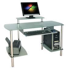 Leda Computer Desk Office Table Glass Computer Desk With Storage Leda Glass