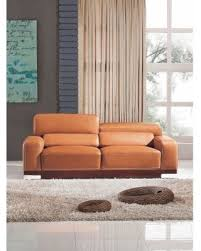 Leather Sofa Italian Deal Alert Luca Home Contemporary Honey Italian Leather Sofa