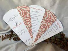 petal fan wedding programs for a springtime or summer wedding https www etsy