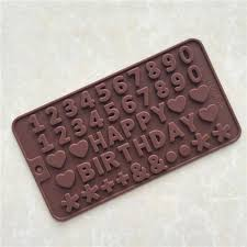 2017 number letters mould happy birthday cake chocolate baking