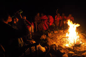 storytelling by the fireplace meet dorobo basecamp explorer