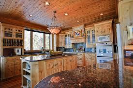 kitchen knotty alder kitchen cabinet with oak wooden flooring