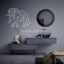 aliexpress com buy geometric elephant home decors 3d effect difference between carving wall stickers and printing wall stickers