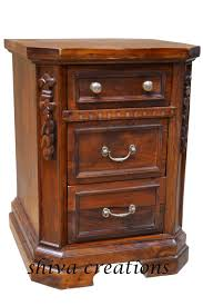 Solid Teak Wood Furniture Online India Carved Sheesham Wood Bedside Jodhpur Sheesham Wood Furniture