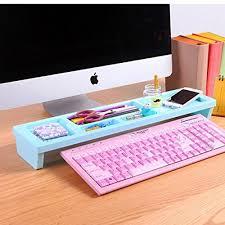 generic blue multifunction desktop storage rack organizer holder