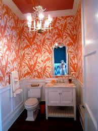Orange Powder Room Sneak Peek Hamptons Designer Showhouse Part I Powder Room