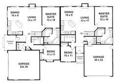 building plans images duplex plan chp 33733 duplex plans house and duplex floor plans