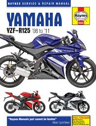 haynes 5543 motorcycle service repair owner manual yamaha yzf r125
