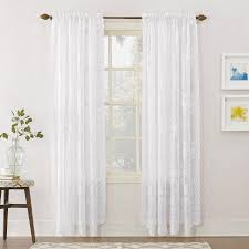Lace Curtain No 918 Alison Sheer Lace Curtain Panel Walmart