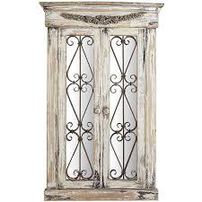 merville antiqued white window mirror pier 1 imports