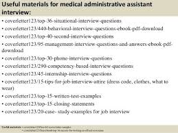 sample medical administrative assistant cover letter thank you