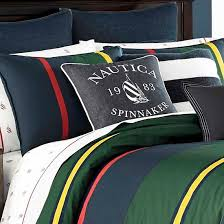 Navy Stripe Comforter Set Heritage Classic Stripe Comforter Set Nautica