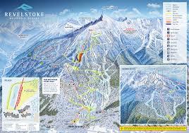 World Map With Mountain Ranges by Revelstoke Mountain Resort Powder Springs Skimap Org