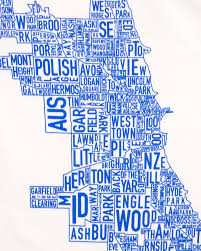 Chicago Neighborhood Map Chicago Neighborhoods Map Baby Onesie