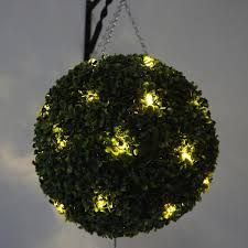 Hanging Topiary 40cm Topiary Ball With 30 Warm Led Lights The Artificial Flowers