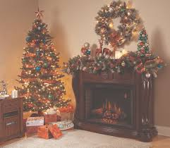 living room christmas decorations fireplace mantel decorating