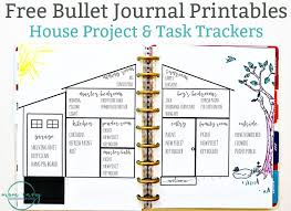 free house projects bullet journal inspired free printables available in multiple