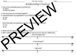 Grief Worksheets Relationship Checkup Worksheet