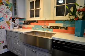 Kitchen Cabinet Stainless Steel Stainless Steel Farmers Sink With Our Natural Shaker Cabinets
