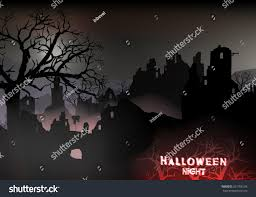 holloween background horror halloween background landscape ruins castle stock vector