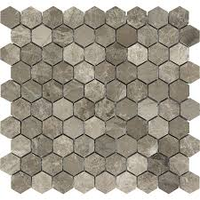 Tiles Pictures by Shop Anatolia Tile Silver Creek Honeycomb Mosaic Marble Wall Tile