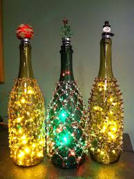 lights made out of wine bottles a few skirted and topped wine bottle lights made from leds and