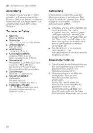 U K Henzeile Anlieferung Technische Daten Aufstellung Neff S517t80x1e