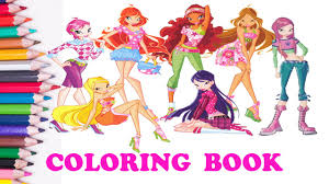 winx club coloring pages for kids coloring books for kids with