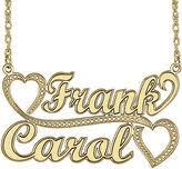 Couple Name Necklace Name Pendants Shopstyle Canada