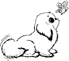 puppy coloring page lyss me