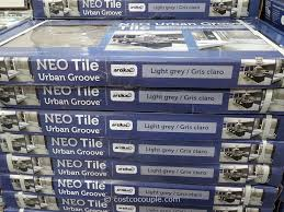 neo tile urban groove light grey porcelain tile costco 2 costco