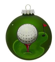 golf personalized ornaments