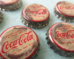 coke bottle caps etsy